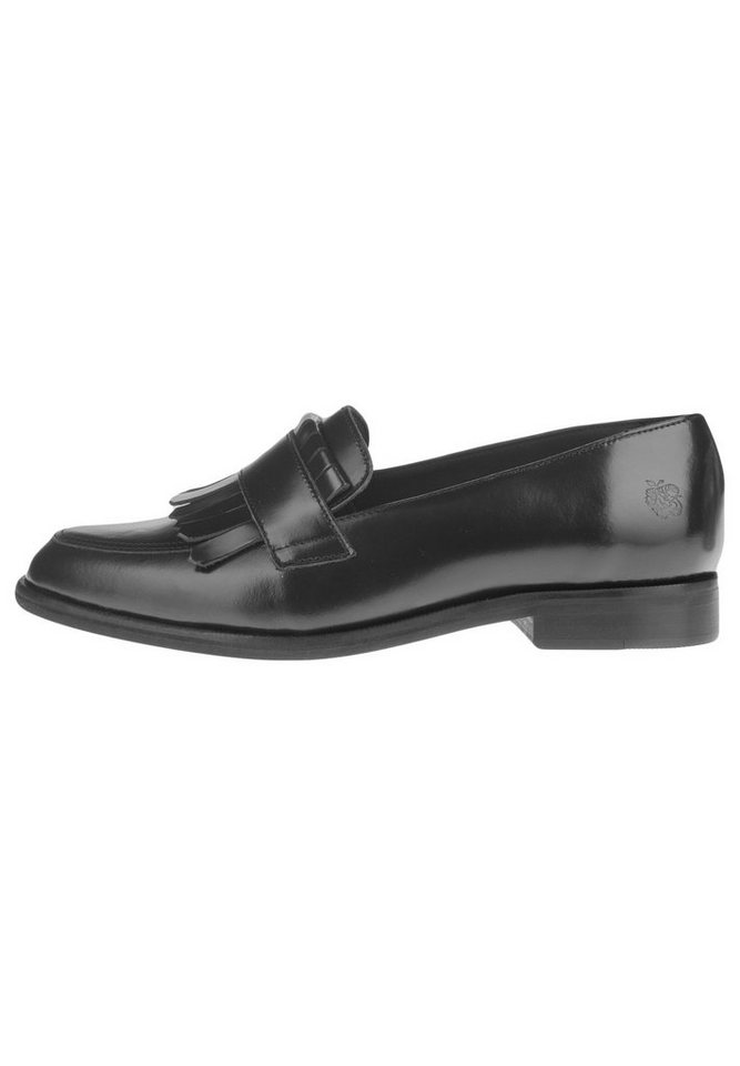 Apple of Eden Lederslipper »POLA« in black