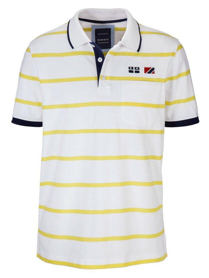 Babista Poloshirt in weiß-gelb