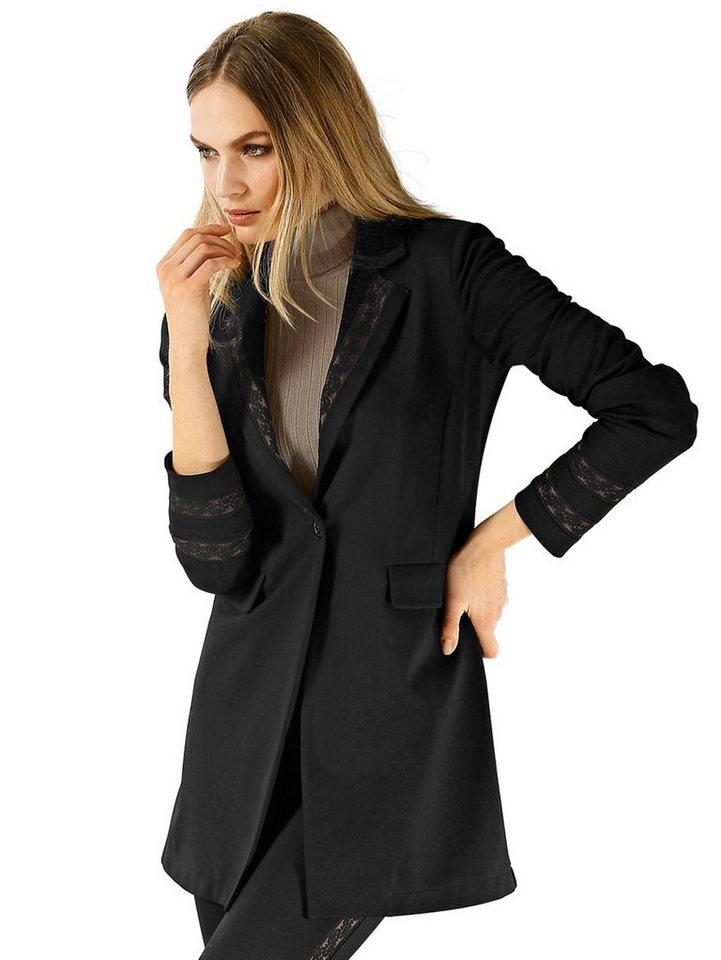 Alba Moda Longblazer in schwarz/camel