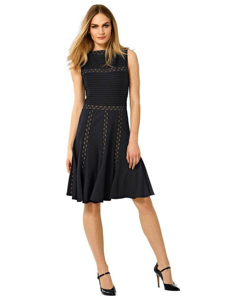 Alba Moda Kleid in schwarz/camel