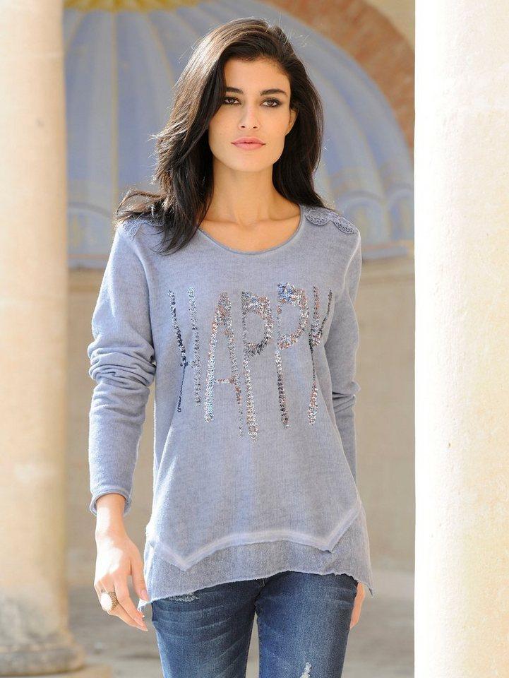 Alba Moda Langarmshirt in blauoildye