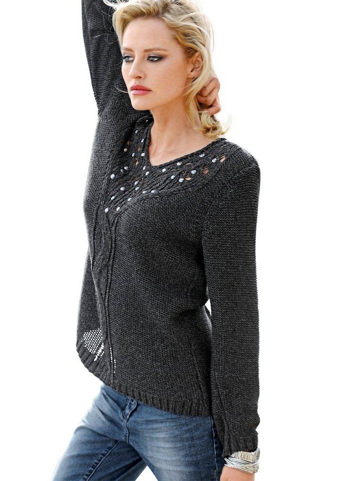 Alba Moda Pullover in anthrazitmelange