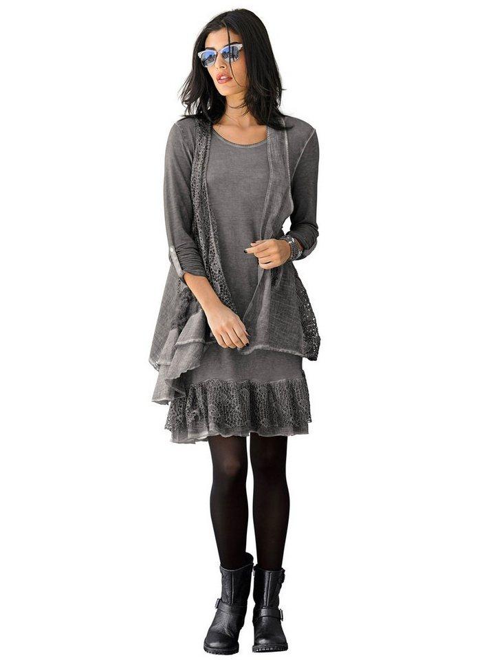 Alba Moda 2-in-1-Kleid in grauoildye