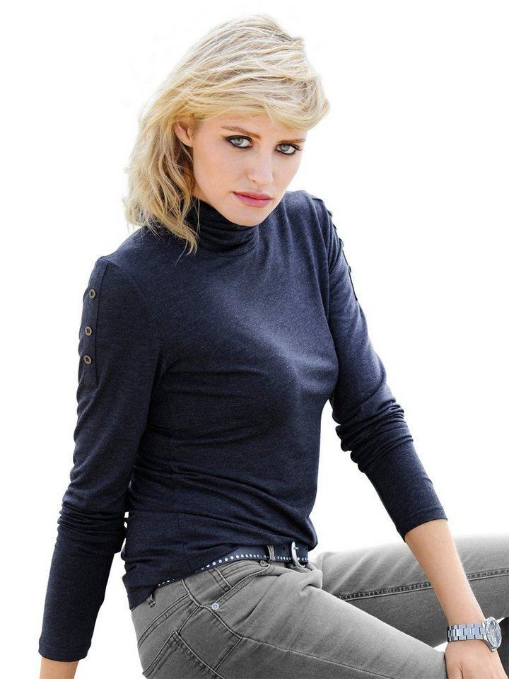 Alba Moda Jerseyrolli in blaumelange