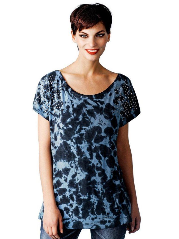 Alba Moda Shirt in grau/blau