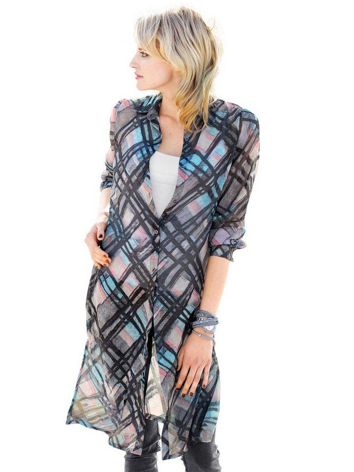 Alba Moda Bluse in grau/multi