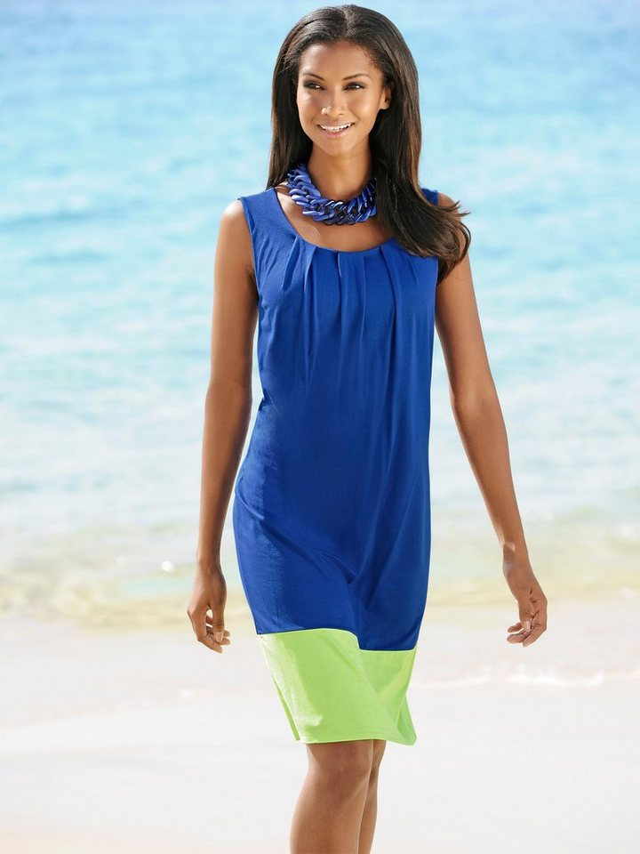 Alba Moda Strandkleid in blau lime