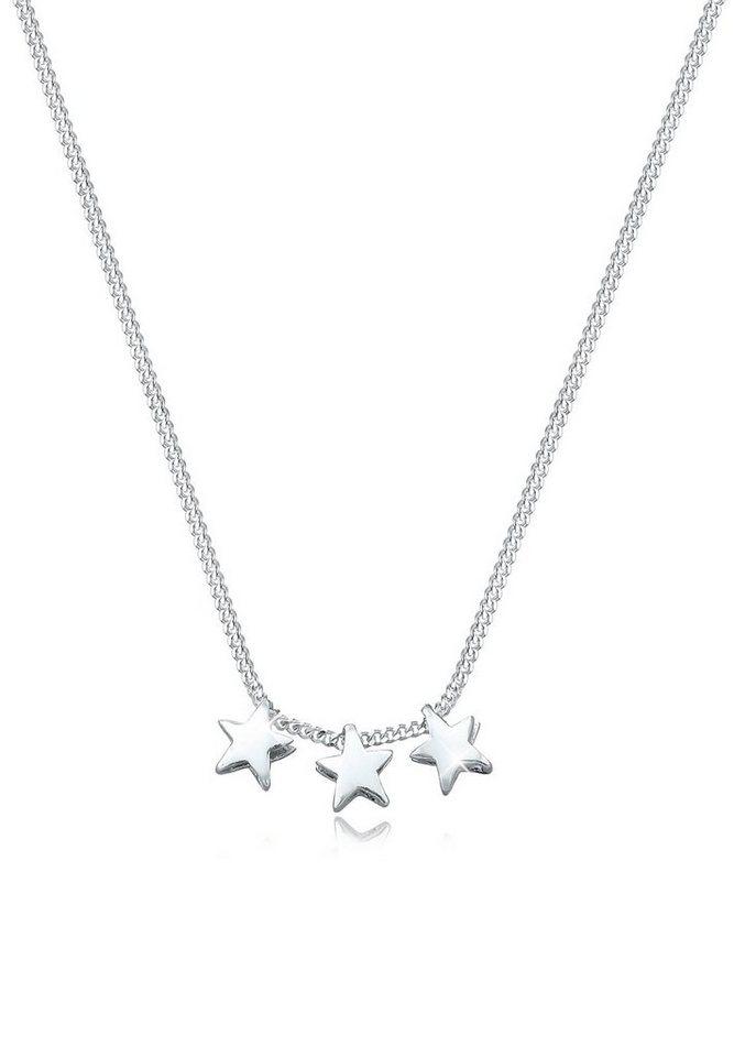 Elli Halskette »925 Sterling Silber Sterne« in Silber
