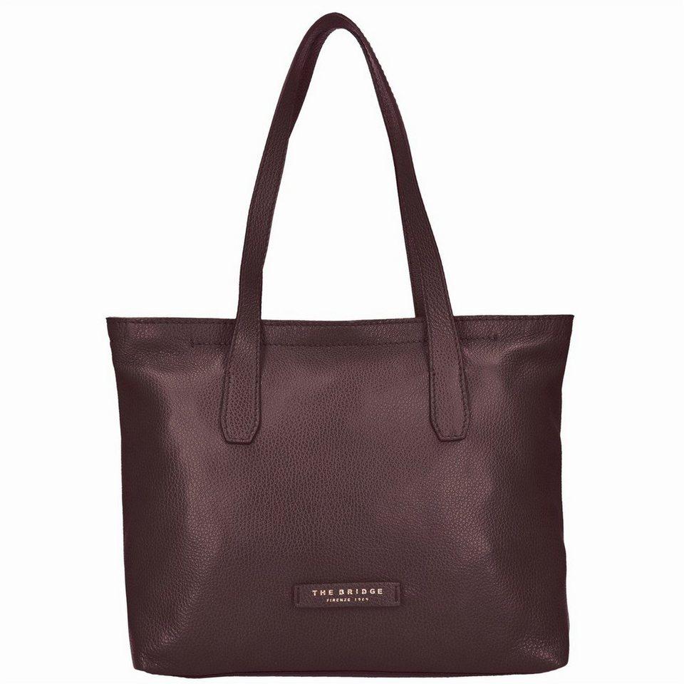 The Bridge Plume Soft Donna Shopper Tasche Leder 32 cm in marrone