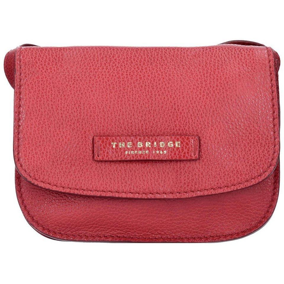The Bridge Plume Soft Donna Mini Bag Umhängetasche Leder 20 cm in rosso ribes