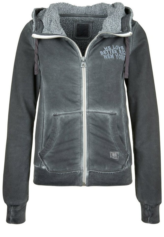 Better Rich Kapuzensweatjacke »SHELBY LINING« in black