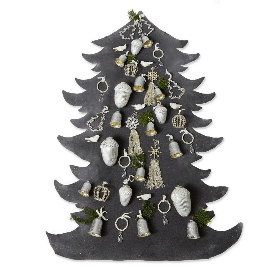 Loberon Weihnachtsschmuck-Set »Melis« in silber/klar/weiß