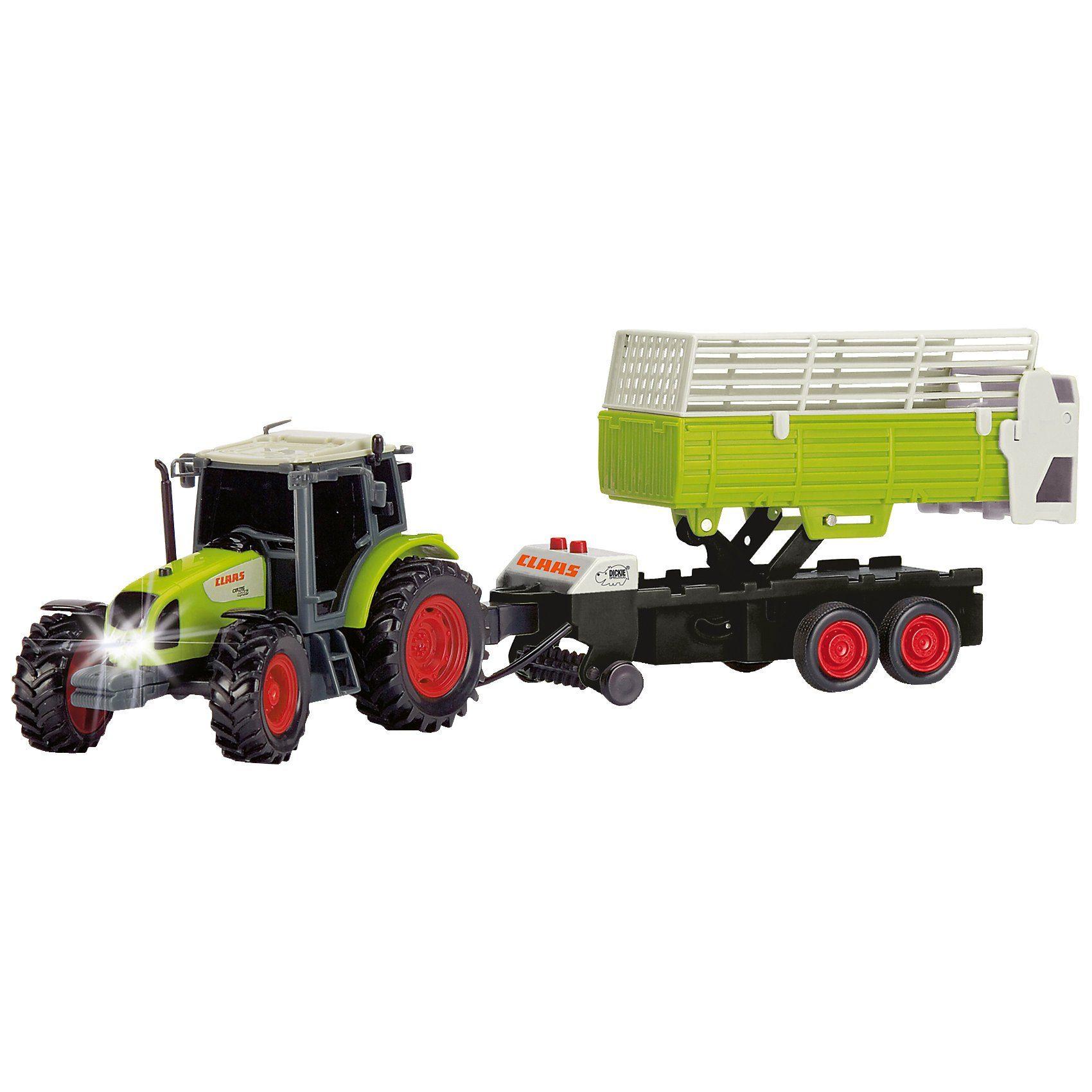 Dickie Toys Farm Worker Traktor mit Heuanhänger
