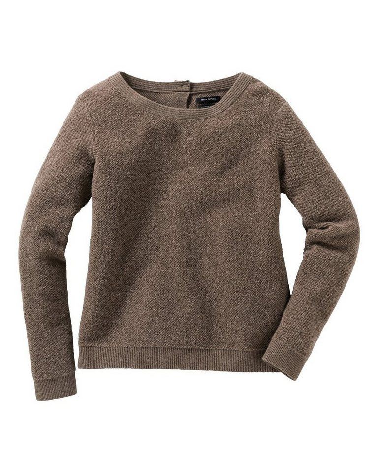 Marc O'Polo Pullover in Braun-Meliert