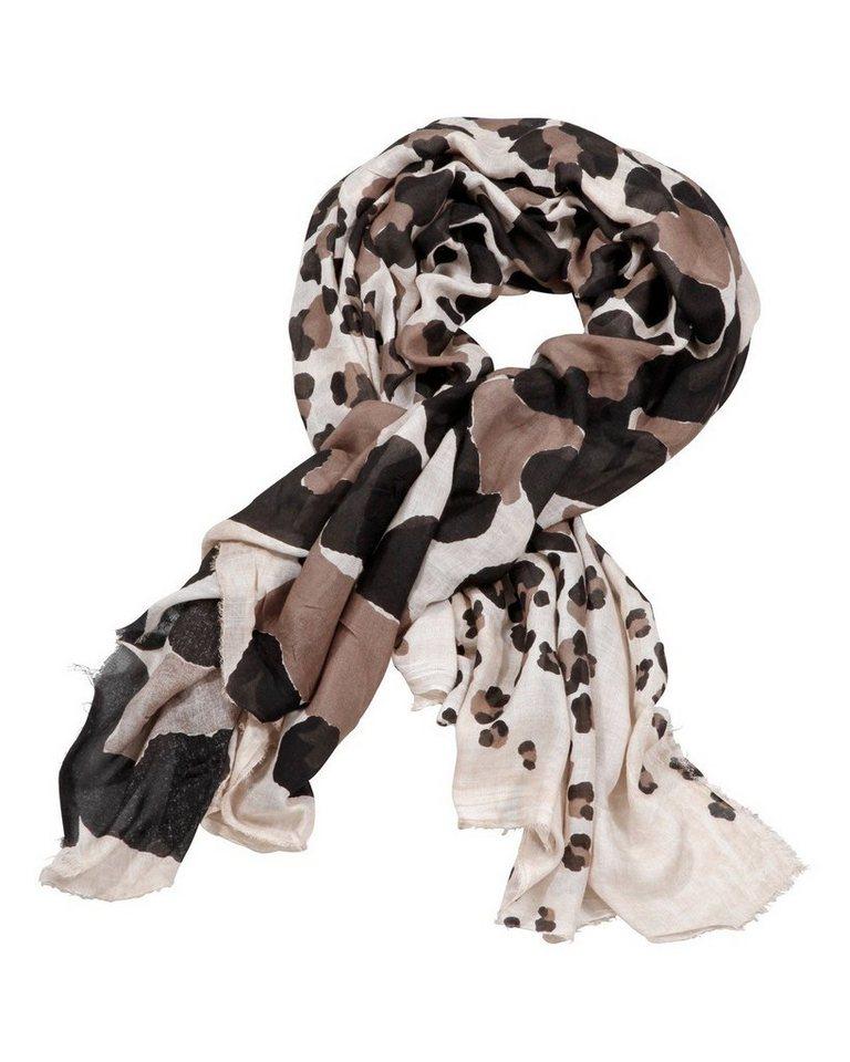 Codello Tuch mit Leoparden-Druck in Beige/Schwarz