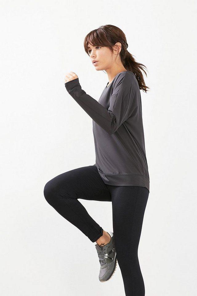ESPRIT Sport T-Shirt aus Funktions-Gewebe in ANTHRACITE