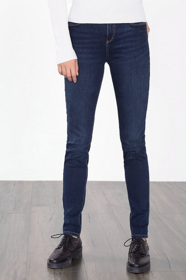 ESPRIT CASUAL High-Waist-Denim mit Ziernähten in BLUE DARK WASHED