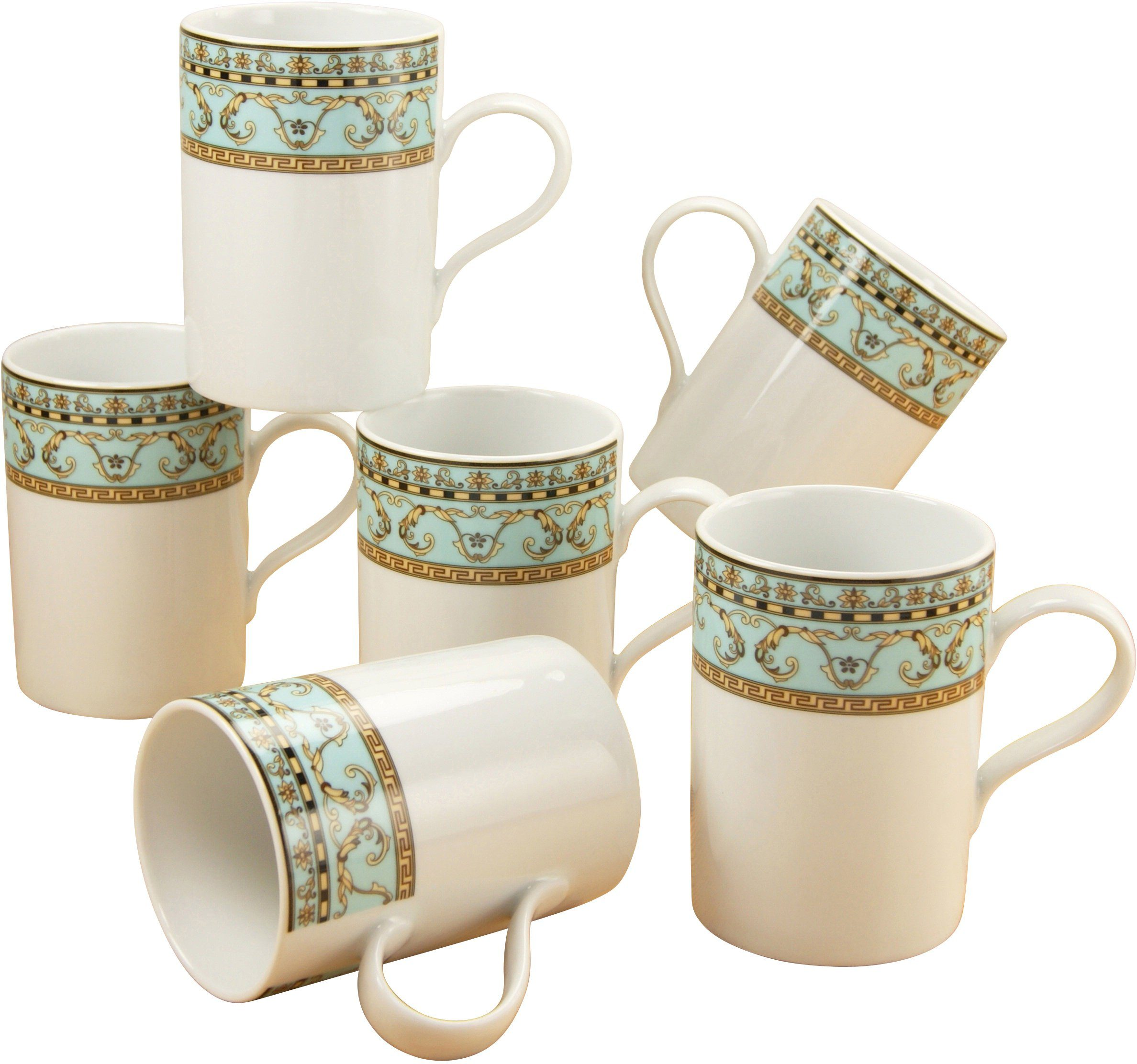 CreaTable Kaffeebecher, Porzellan, »Majestosa« (6 Stück)