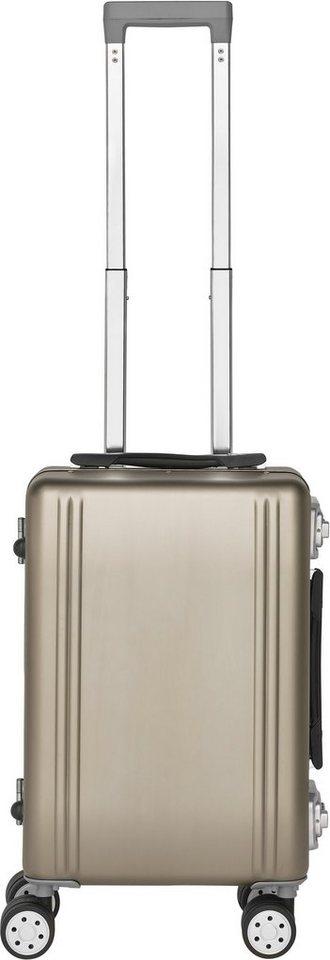 Packenger Hartschalentrolley mit 4 Rollen, »Aluminium Luxury Traveller Alu Professional« in champagne