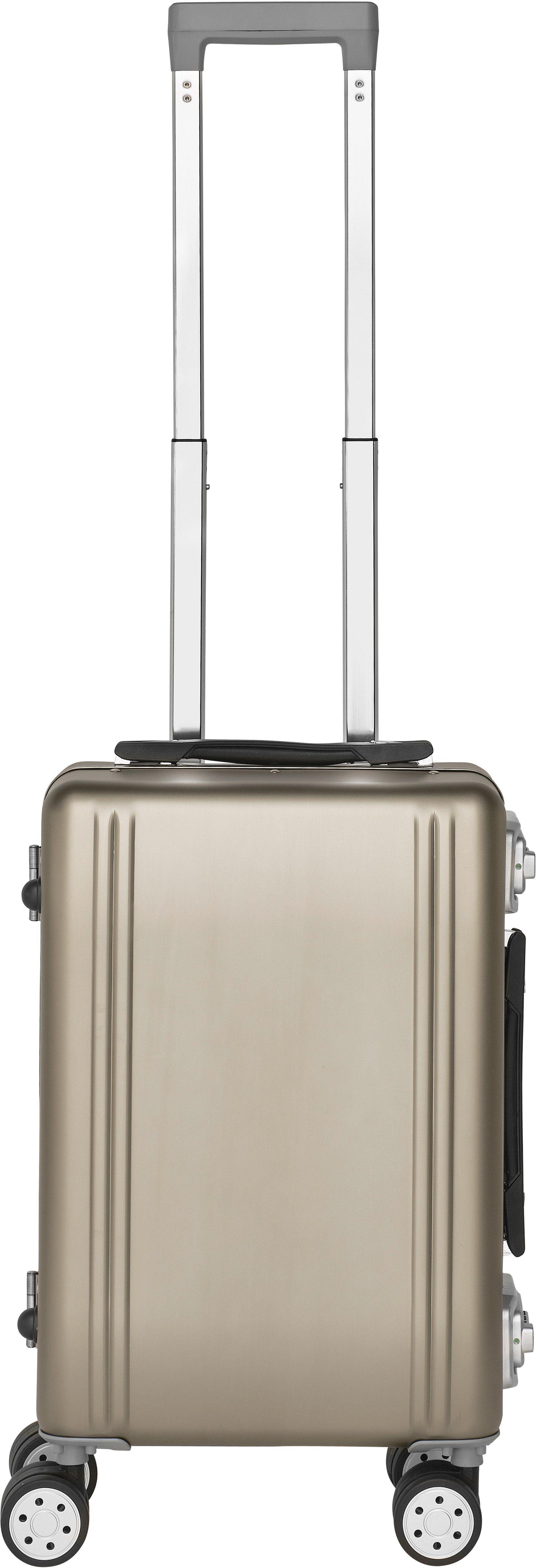 Packenger Hartschalentrolley mit 4 Rollen, »Aluminium Luxury Traveller Alu Professional«