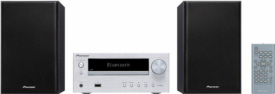 Pioneer X-HM26 Microanlage, Bluetooth, WLAN, RDS, 1x USB in silberfarben