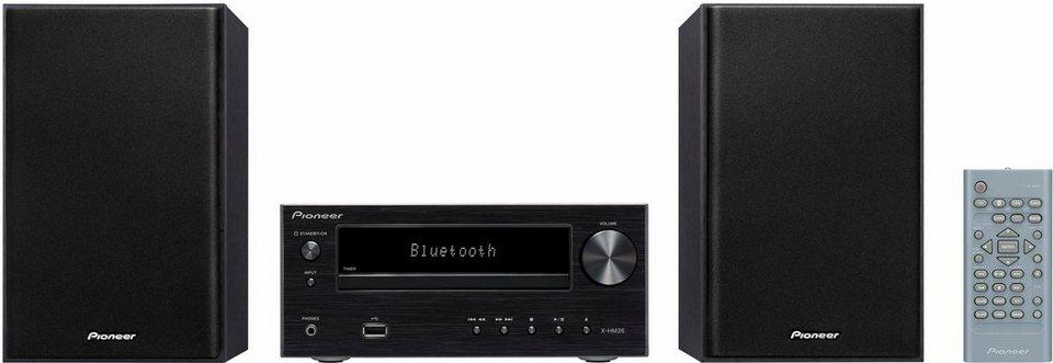 Pioneer X-HM26 Microanlage, Bluetooth, RDS, 1x USB in schwarz