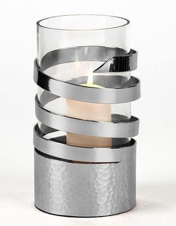 Lambert Spiral-Windlicht in silber