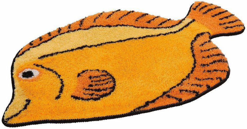 Badematte, my home, »Fisch«, Höhe 15 mm, rutschhemmender Rücken in sonne