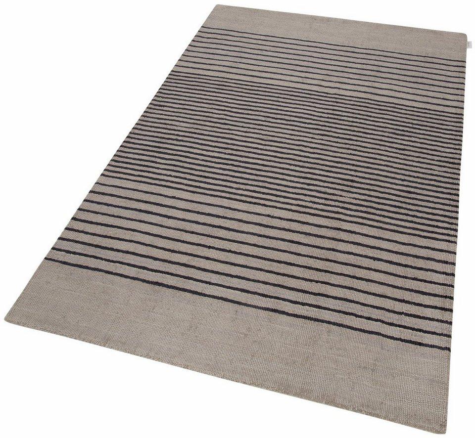 Teppich, Calvin Klein Home, »Tundra«, handgetuftet in Grau/Dunkelblau