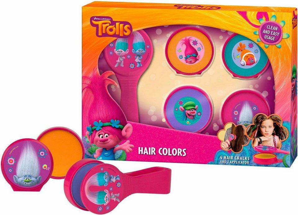 Trolls, »Hairific«, Haarkreiden (5-tlg.) in orange/pink/grün/blau