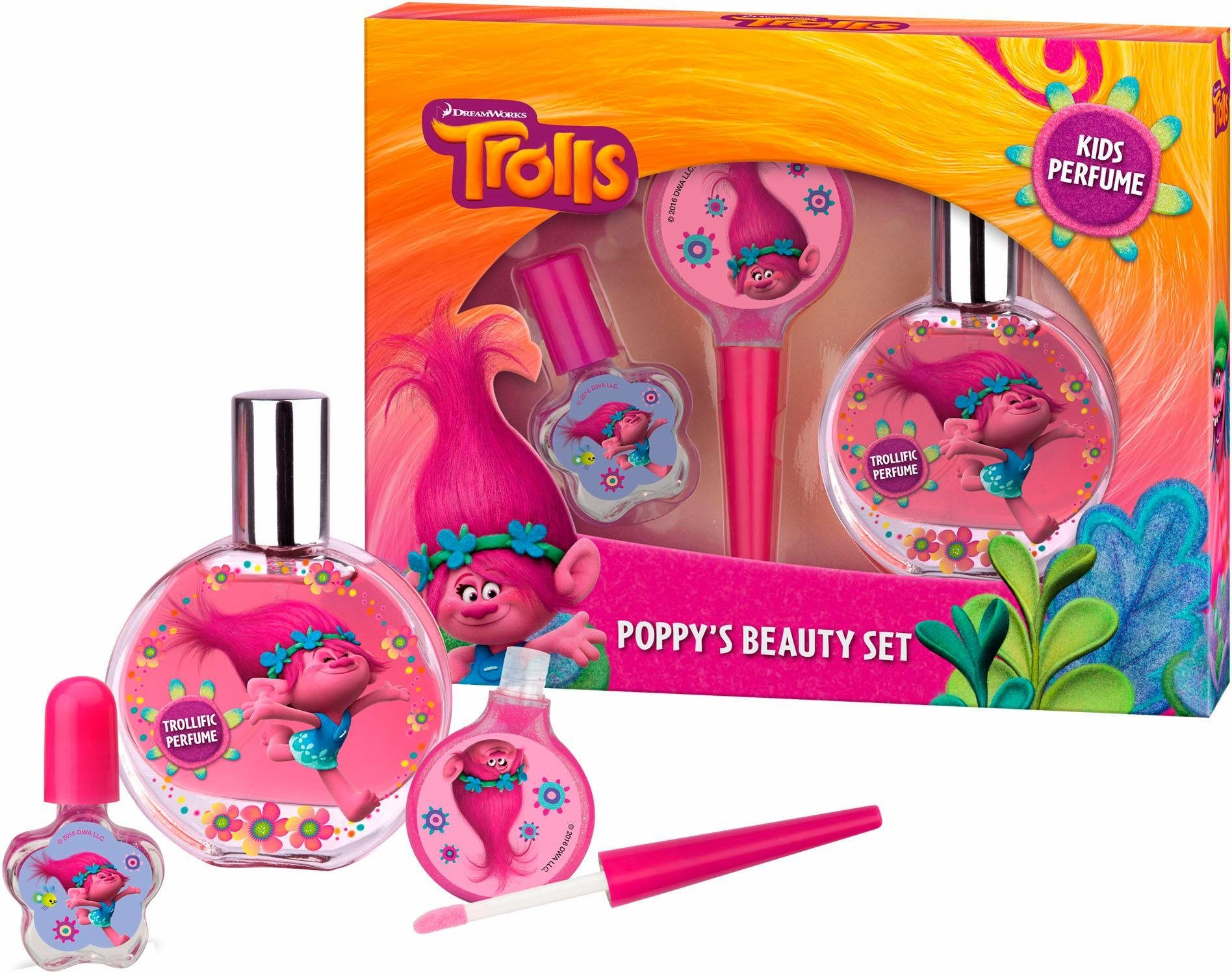 Trolls, »Poppy's Beauty Set«, Geschenk-Set (3-tlg.)
