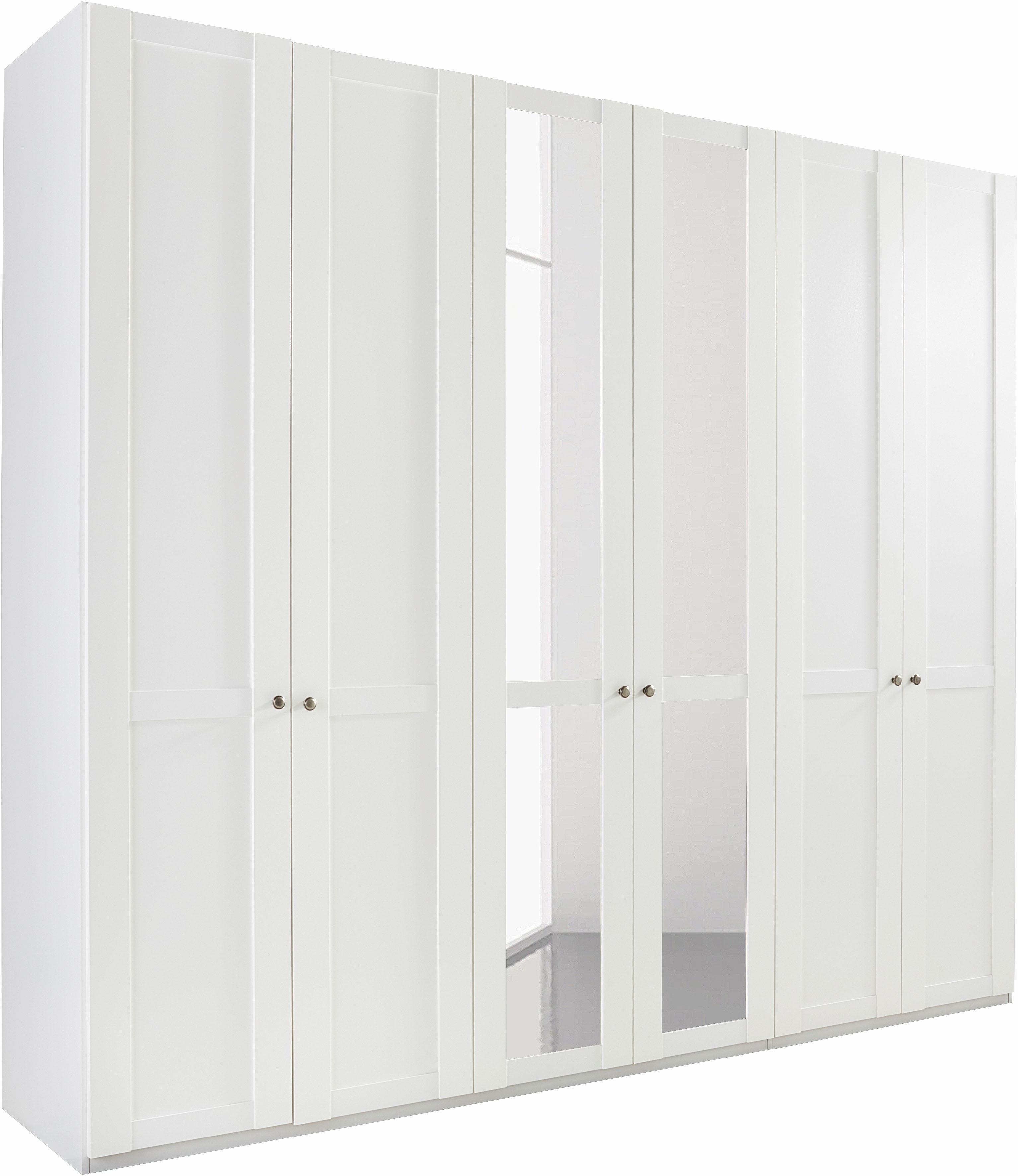 Wimex Kleiderschrank »Newport«, mit Spiegel | Schlafzimmer > Kleiderschränke > Drehtürenschränke | Weiß | Leinen | Wimex