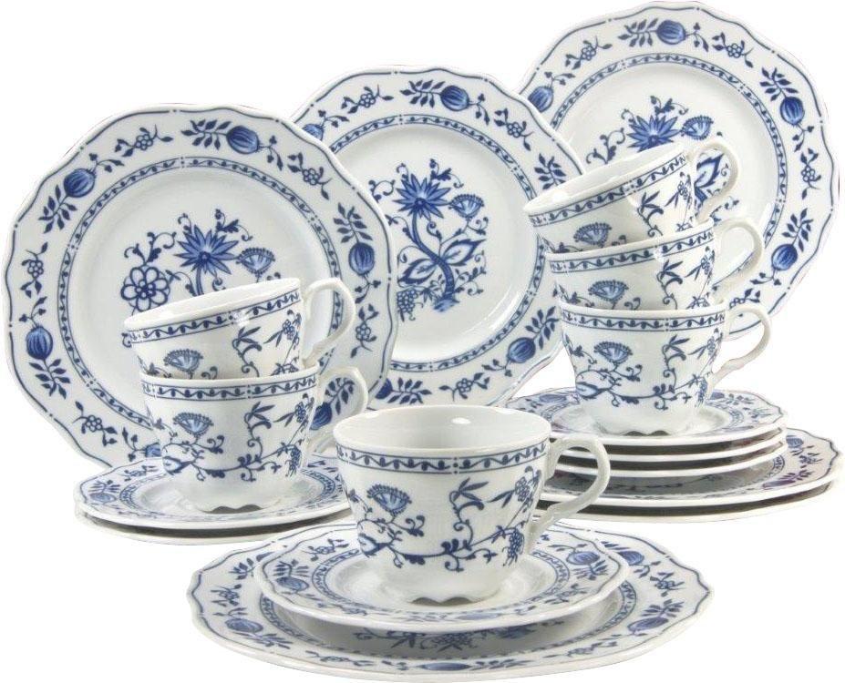Porzellanserie, »Zwiebelmuster«, CreaTable in Weiß mit blauem Zwiebelmuster