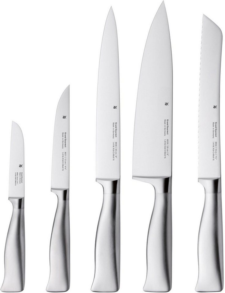 WMF Messer-Set, 5-teilig, »GRAND GOURMET« in silberfarben