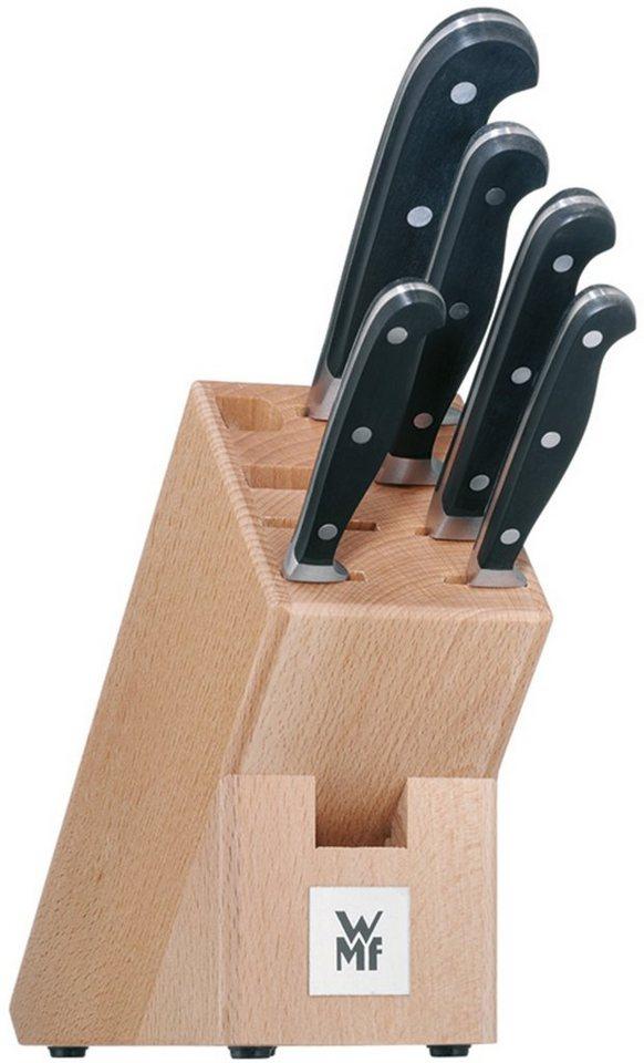 WMF Messerblock, bestückt, »SPITZENKLASSE PLUS« in silberfarben/schwarz/holzfarben