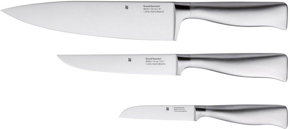 WMF Messer-Set, 3-teilig, »GRAND GOURMET« in silberfarben