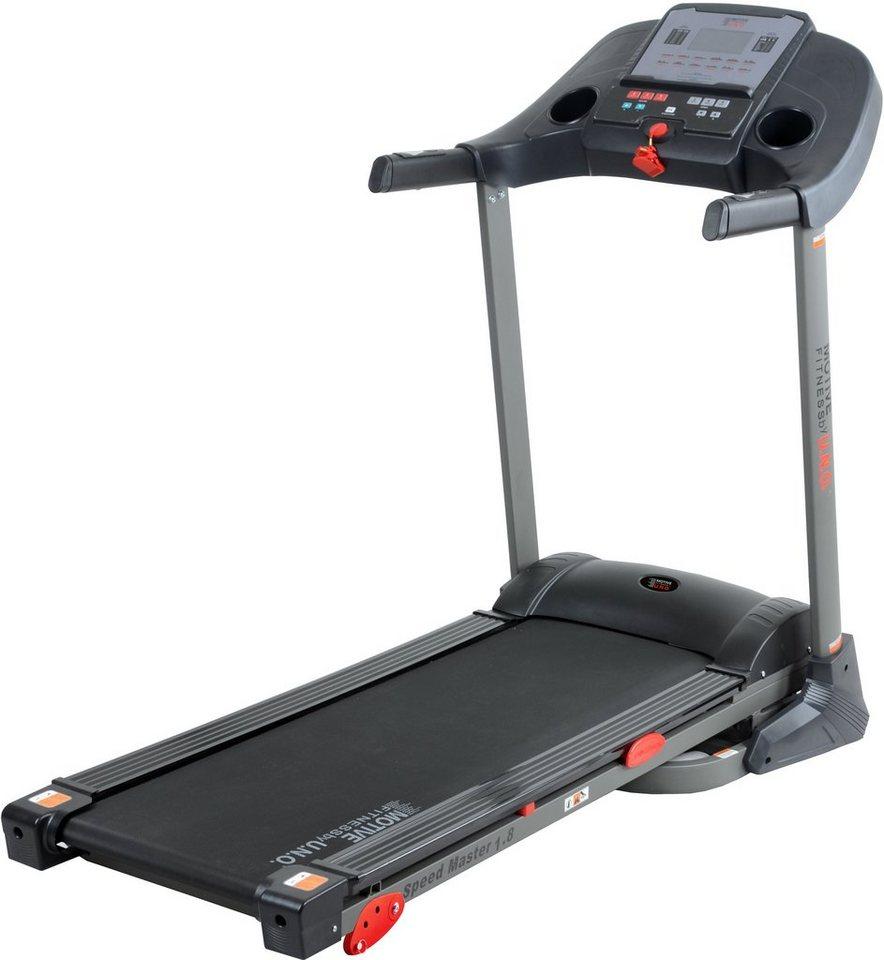 MOTIVE by U.N.O. Fitness Laufband, »Speed Master 1.8 M« in silberfarben-schwarz