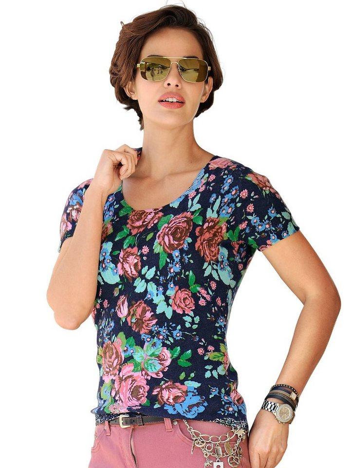 Alba Moda Pullover in marine/multi