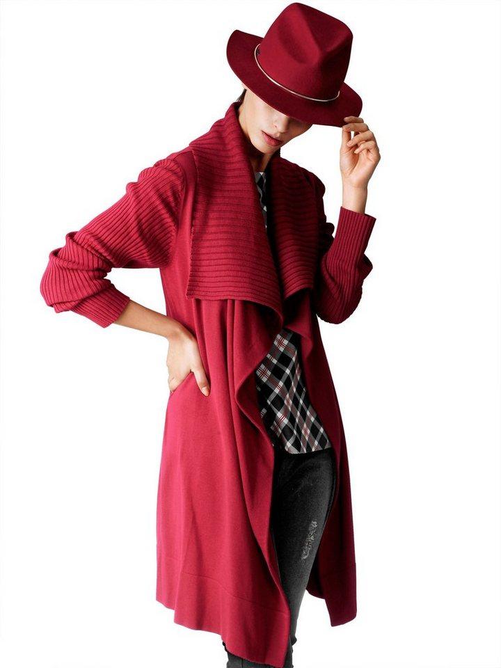 Alba Moda Strickmantel in rot