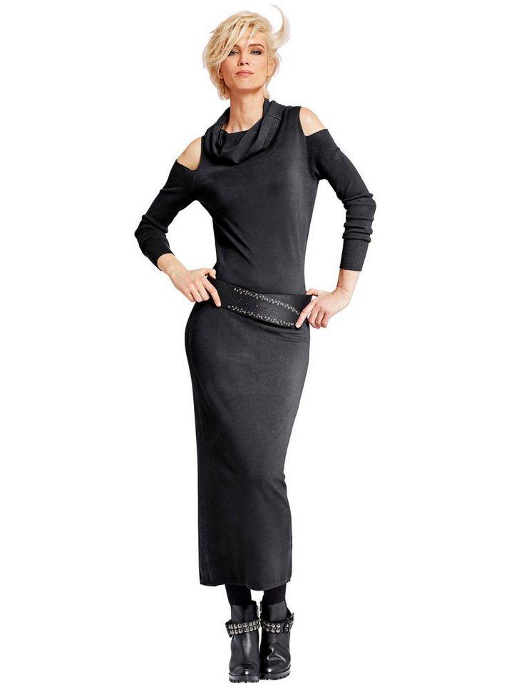 Alba Moda Strickkleid in schwarz