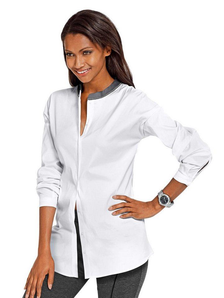 Alba Moda Bluse in weiß/grau