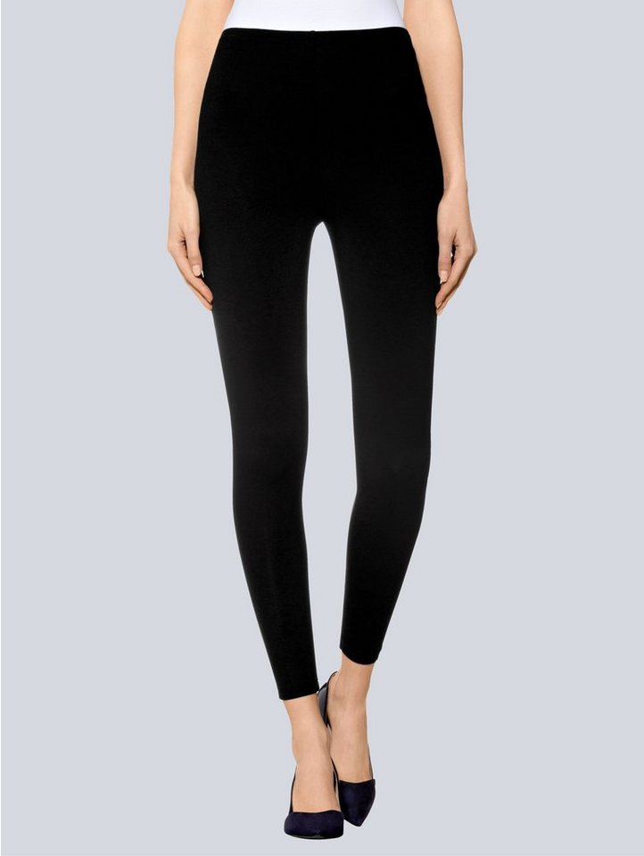 Alba Moda Leggings in schwarz