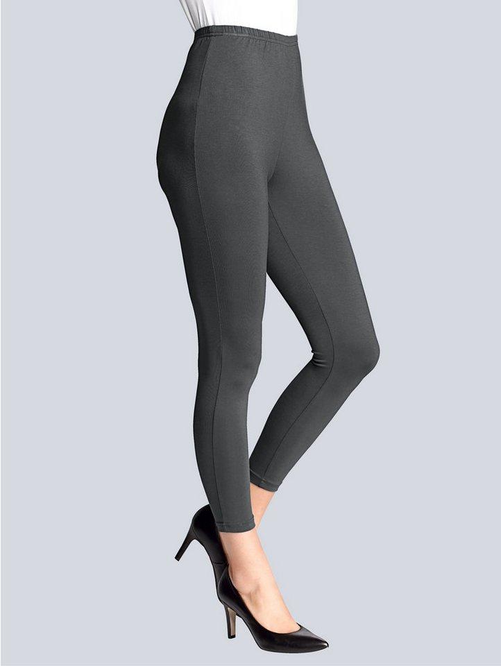 Alba Moda Leggings in anthrazit