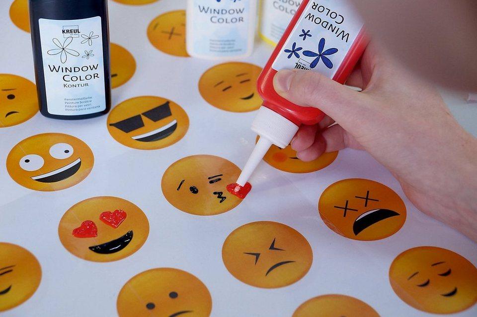 fenstersticker »happy window color sticker set« c kreul