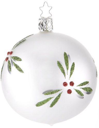 INGE-GLAS® Weihnachtsbaumkugel »Mistelzweig« (3 Stück)