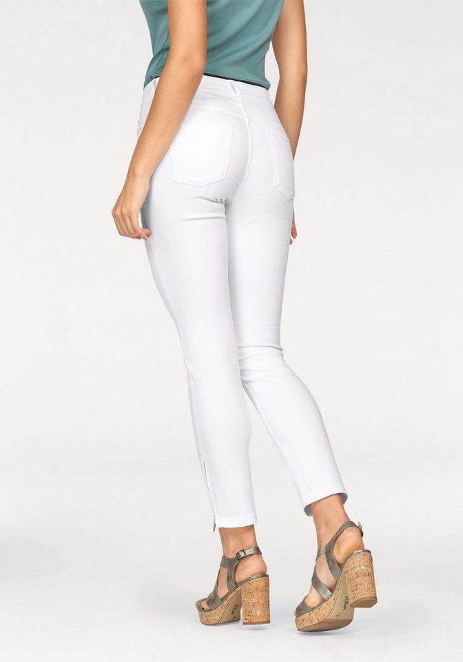 MAC Slim-fit-Jeans »Dream summer Chic« in white