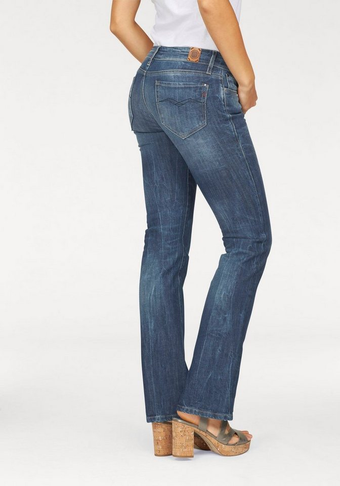 Replay Bootcut-Jeans »Ramean« in mid-blue