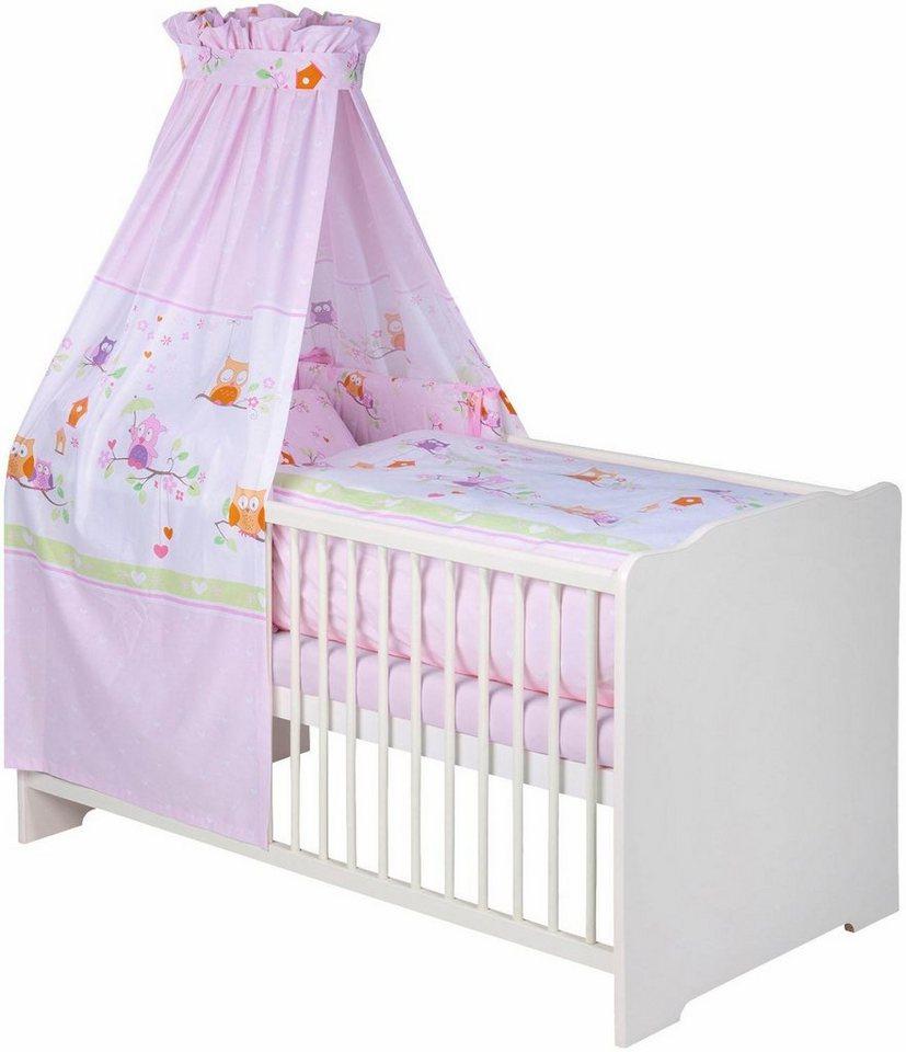 julius z llner 7 tlg komplettbett babybett matratze himmelstange himmel nestchen. Black Bedroom Furniture Sets. Home Design Ideas