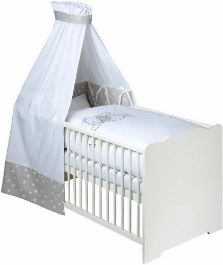 Disney Baby Komplettbett »Pooh mein Stern«, 7-tlg., mit Bettwäsche, Himmel und Himmelstange, Matratze, Lattenrost und Nestchen