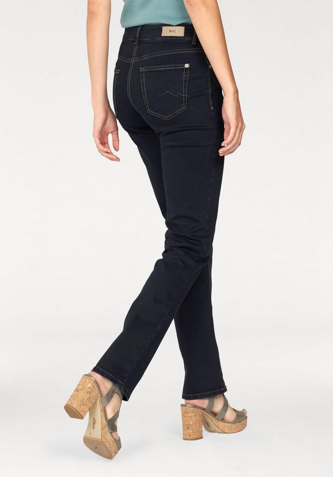 MAC Stretch-Jeans »Melanie« Die feminine Form in dunkelblau